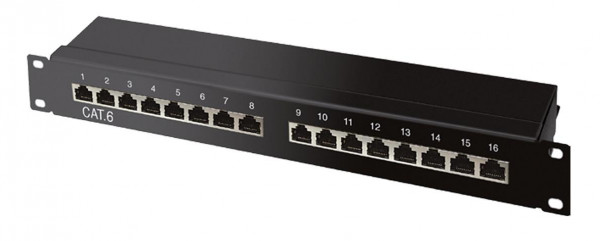 CAT6a Patchpanel 16 Ports