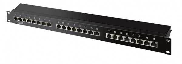 CAT6a Patchpanel 24 Ports
